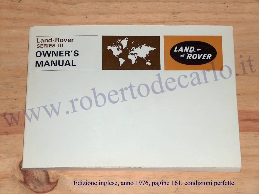 land rover series iii repair operation manual